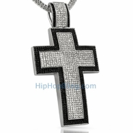 XXL Mega Cross Black Border Bling