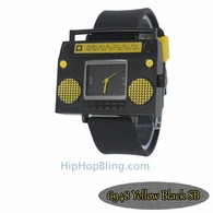Yellow Boombox Urban Hip Hop Watch