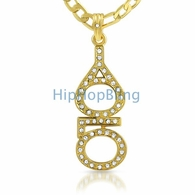 YOLO You Only Live Once Gold Small Pendant