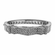 Zig Zag Bling Silver Plated Bangle