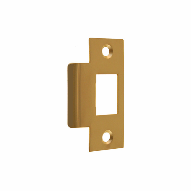 "ARC16B-Door Strike Plate-""T"" Style<br>Polished Brass Finish"