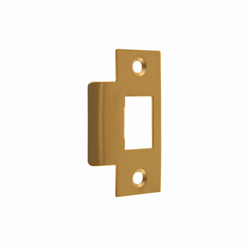 """ARC16B-Door Strike Plate-""""T"""" Style<br>Polished Brass Finish"""