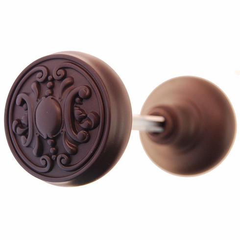 ARC37ORB-Solid Brass Door Knob, Pair w/spindle, Oil Rubbed Bronze finish
