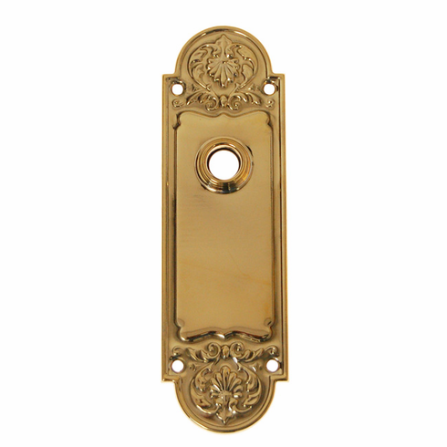 ARC42B-Stamped Brass Backplate, Brass Finish