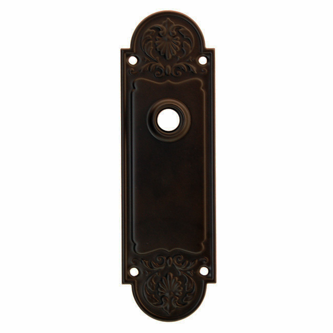 ARC42ORB-Stamped Brass Backplate, Oil Rubbed Bronze Finish