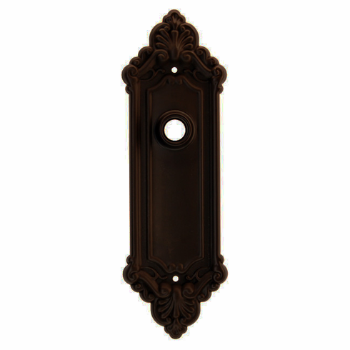ARC43ORB-Stamped Brass Backplate, Oil Rubbed Bronze Finish