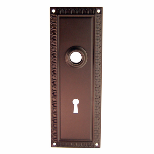 ARC47ORB-Stamped Brass Backplate, Oil Rubbed Bronze Finish with Keyhole
