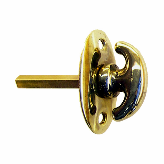 ARC52PL-Crescent Thumb Turn Polished Lacquered Brass