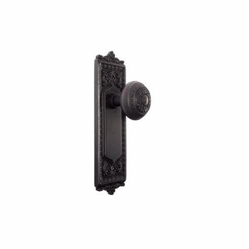 ARC55ORB-Egg and Dart Backplate and Egg and Dart Knob, Passage, Oil Rubbed Bronze