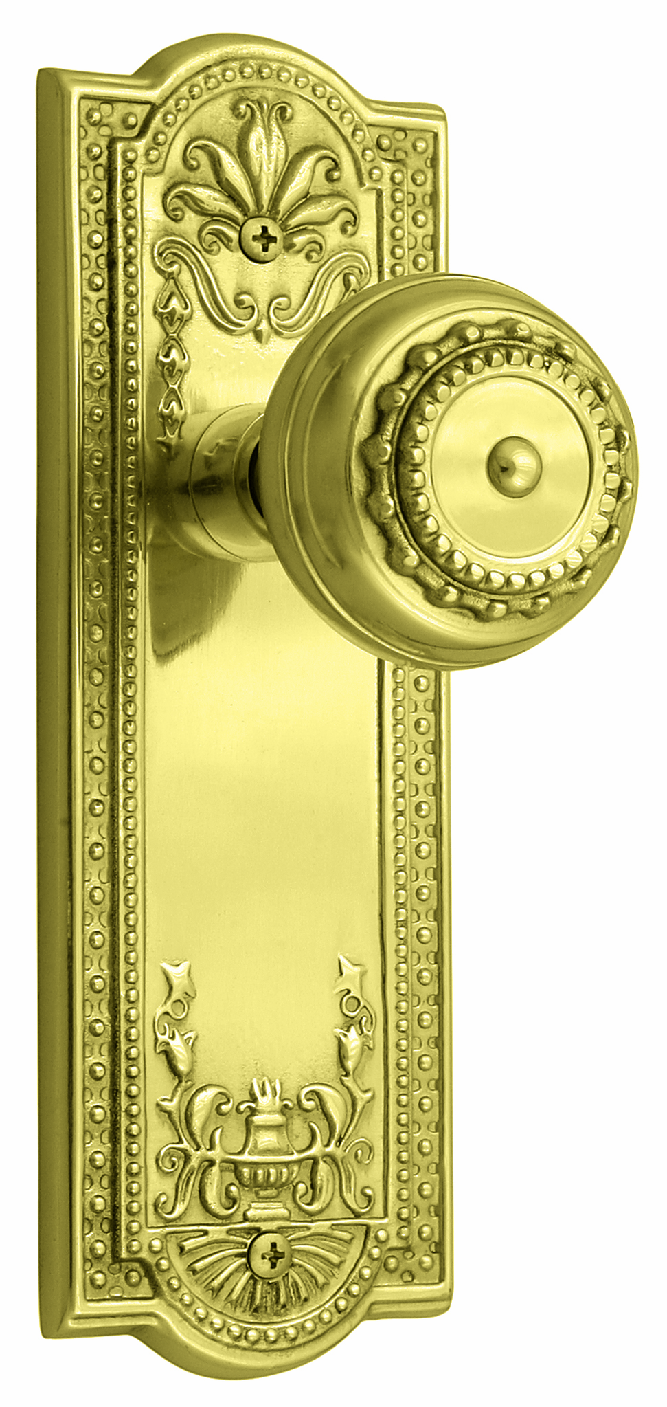 ARC56B-Meadows Backplate and Meadows Knob, Passage, Brass