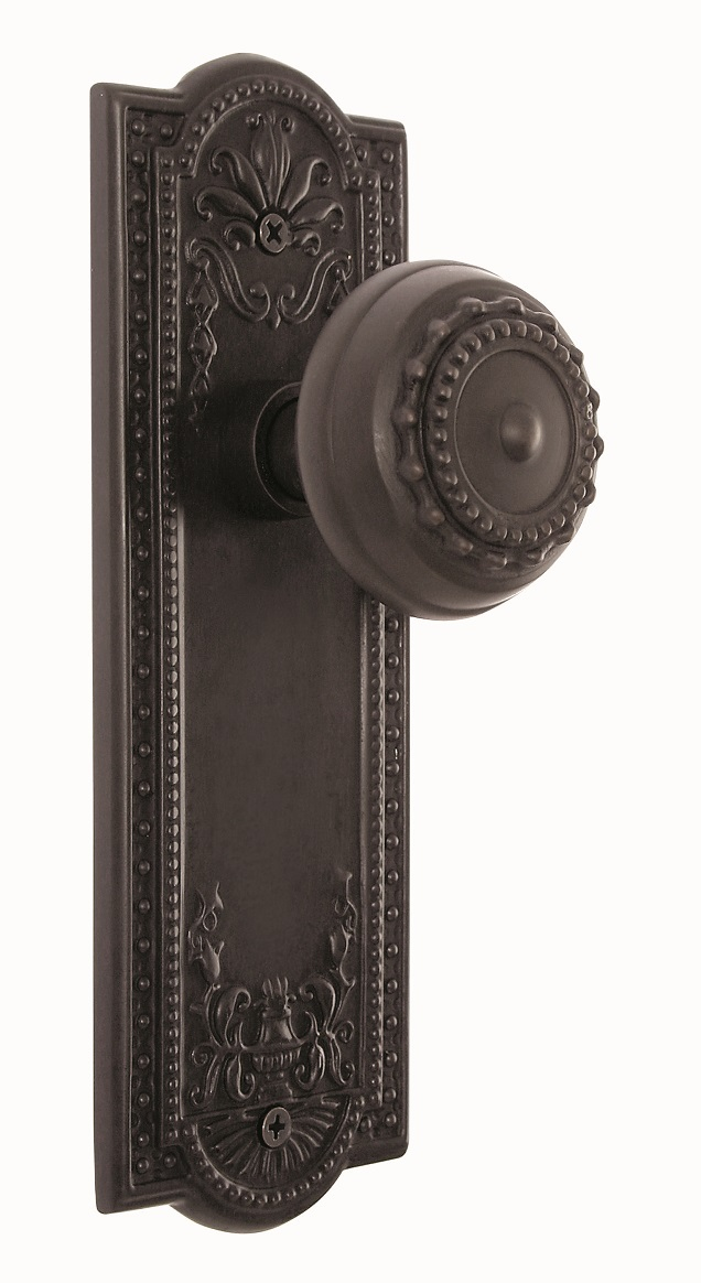 ARC56ORB- Meadows Backplate and Meadows Knob, Privacy, Oil Rubbed Bronze
