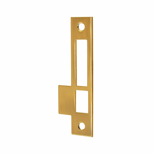 ARC66PL, Strike Plate, Polished Lacquered Brass