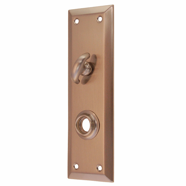 ARC8BN-Backplate with Beveled Edge<br>Brushed Nickel<br>With Crescent Thumb Turn