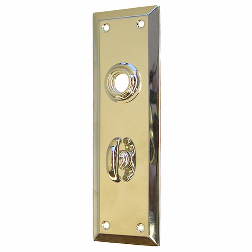 ARC8N-Backplate with Beveled Edge<br>Nickel Finish<br>With Crescent Thumb Turn