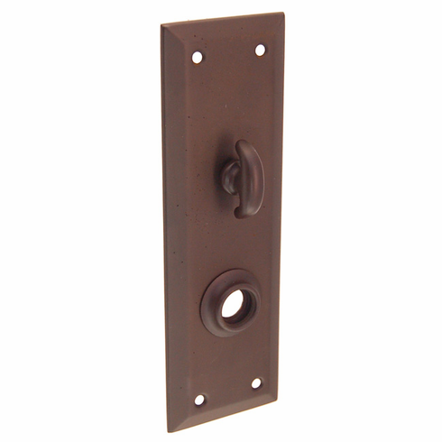 ARC8ORB-Backplate with Beveled Edge<br>Oil Rubbed Bronze<br>With Crescent Thumb Turn