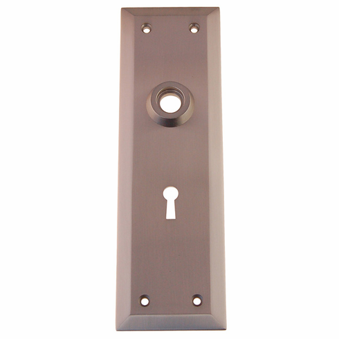 ARC9BN-Heavy Forged Brass Backplate<br>Brushed Nickel Finish<br>With Keyhole