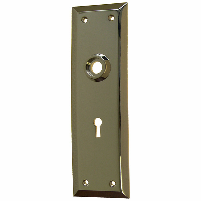 ARC9N-Heavy Forged Brass Backplate<br>Nickel Finish<br>With keyhole