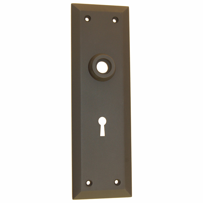 ARC9ORB-Heavy Forged Brass Backplate<br>Oil Rubbed Bronze Finish<br>With Keyhole