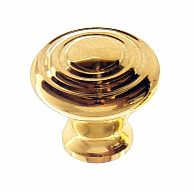 Art Deco Knob, Brass - 1 3/8""