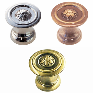 "Knob with Daisy Pattern - 1""<BR>3 Finish Options"