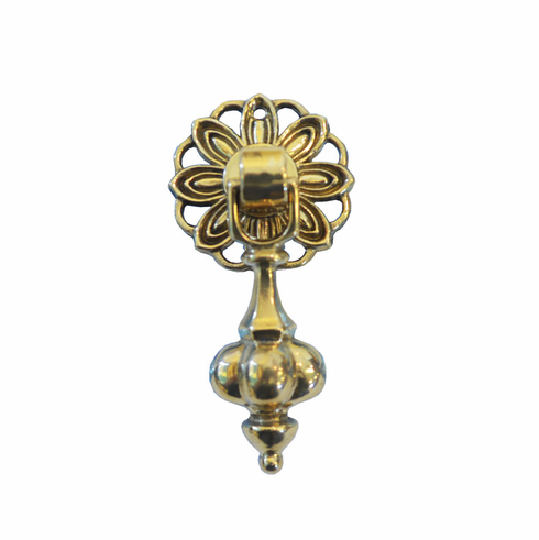 Small Pound Pendant Pull w/Daisy Back Plate