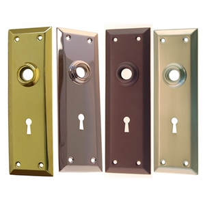Door Trim Plates with Keyhole