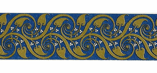 Blue/Gold Paper Edging