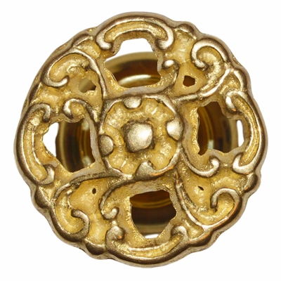Brass Knob with Rosette - 1.25""
