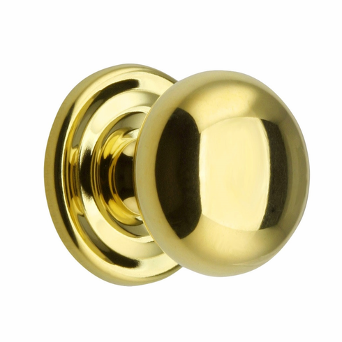 Brass Knob with rosette -   1 3/4""