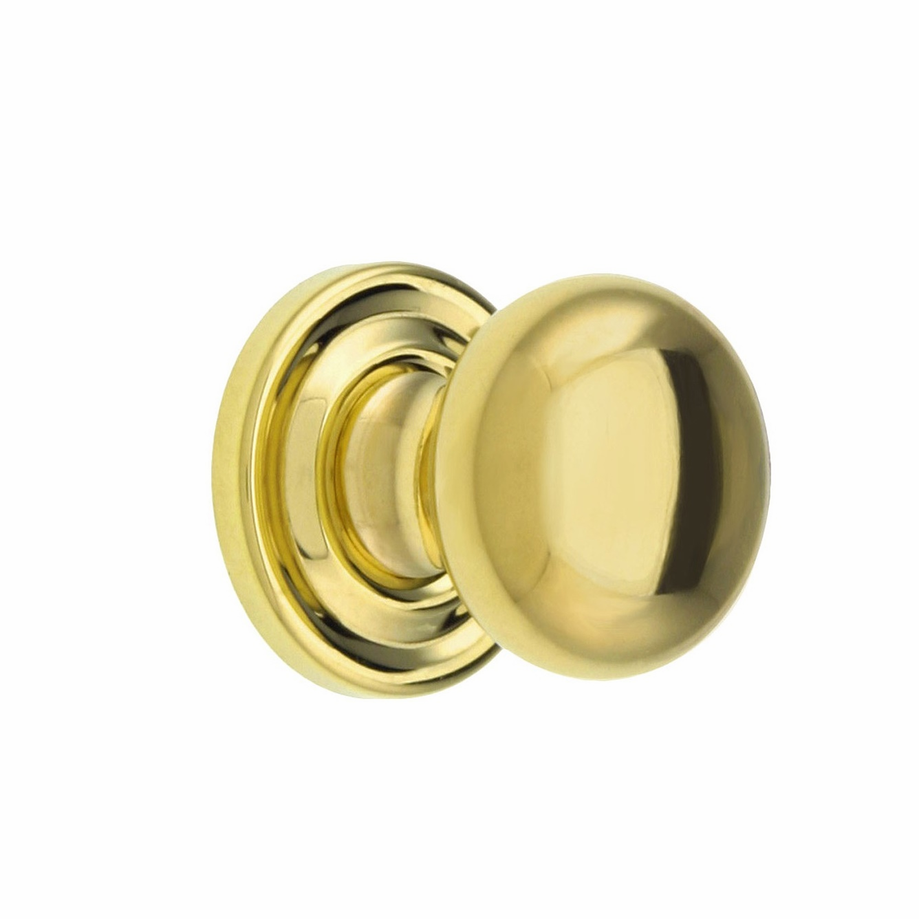 Brass Knob with rosette - 1""