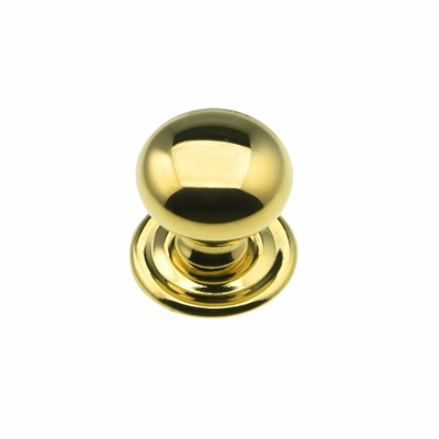 Brass Knob with rosette - 3/4""