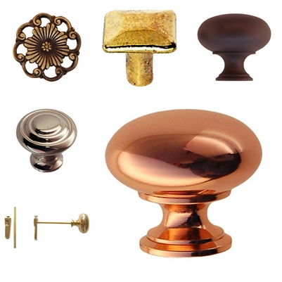 Brass Knobs in Various Finishes & Styles