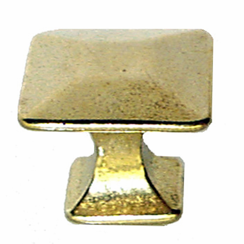Brass Mission Pyramid Knob - 1""