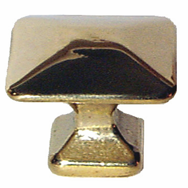 Brass Mission Square Knob - 1 1/4""
