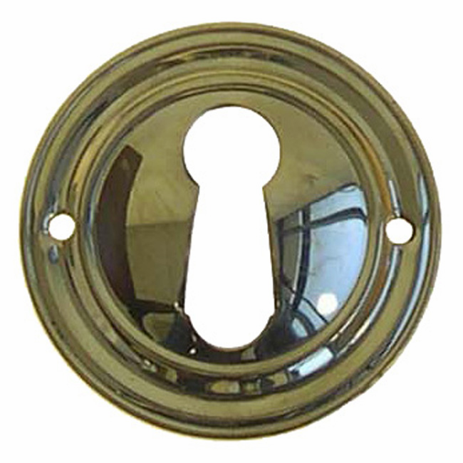 C11a-Stamped Brass Keyhole Cover