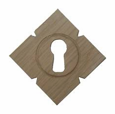Wooden Keyhole Cover - 2 Wood Choices