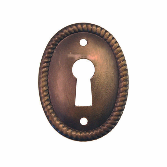 C3b-AB- Antique Brass Keyhole Cover