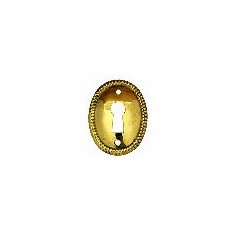 C3B-B- Stamped Brass Keyhole Cover