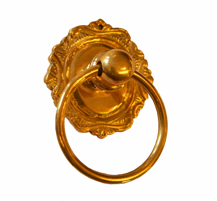 Cast Brass Ring Pull