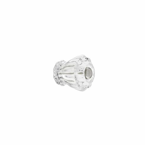 """Clear Glass Fluted Knob 1"""""""