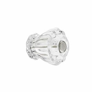 Clear Glass Fluted Knob 1""