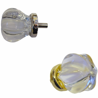 Clear Star-shaped Glass Knob - Med