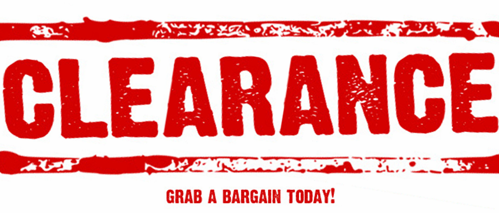 Clearance Items ~ up to 50% off