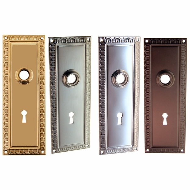 Colonial Door Trim Plate w/Keyhole
