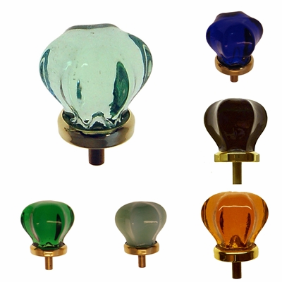 Colored Star-shaped Glass Knob - Med