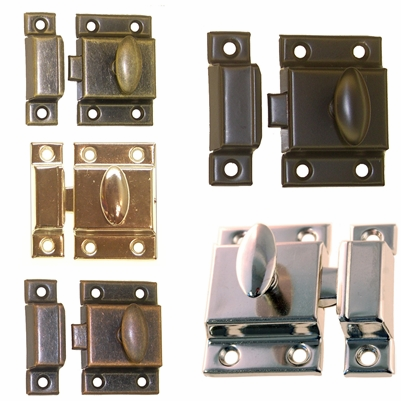 "Cupboard Latches 2 1/8"" <BR>5 Finish Options"