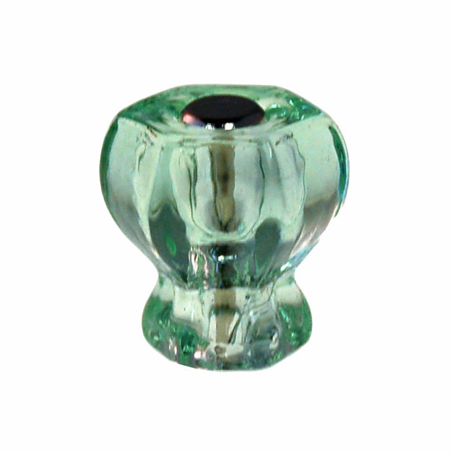 Depression Green Glass Hex Knob 1""