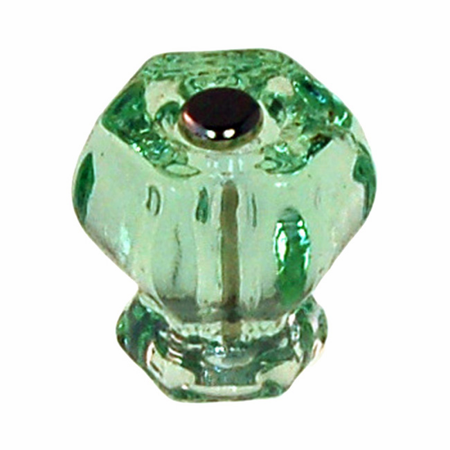 Depression Green Glass Hex Knob 1.25""
