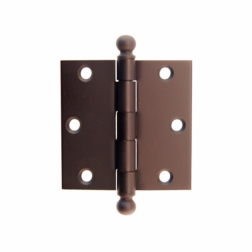 "Door Hinge with Ball Tip- 3"" x 3""-Oil Rubbed Bronze"