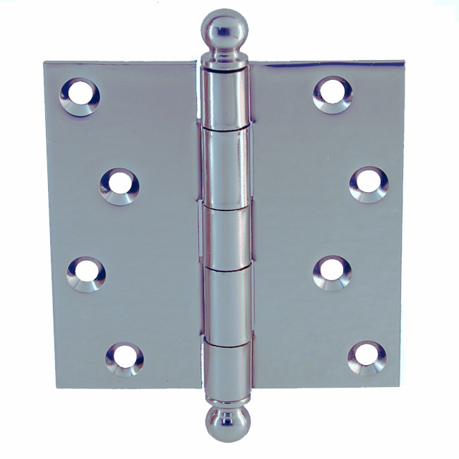 "Door Hinge with Ball Tip 4""x4"" Nickel"